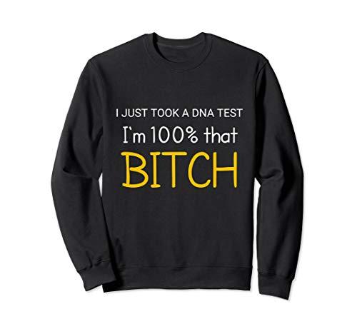 women Funny 100% Bitch T shirt -
