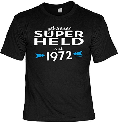 T-Shirt - Geborener Superheld Seit 1972 - lustiges Sprüche Shirt als Geschenk zum 45. Geburtstag