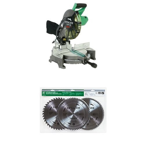 Best Deals! Hitachi C10FCH2 15-Amp 10-inch Single Bevel Compound Miter Saw with Laser Marker and Saw...
