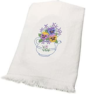 Dimensions Needlecrafts Embroidery, Teapot Floral Guest Towels