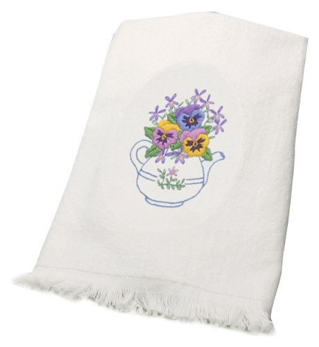 Dimensions Needlecrafts Embroidery, Teapot Floral Guest Towe