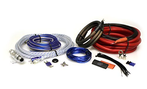 XS Power AKR4 Red/Black Mini-ANL 4 Gauge Amplifier/Amp XP Wire Kit + 1 RCA