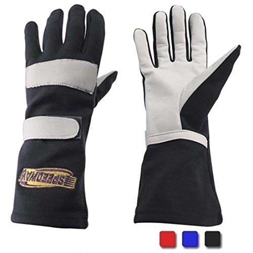 Black Nomex Racing Gloves, Single Layer, Large