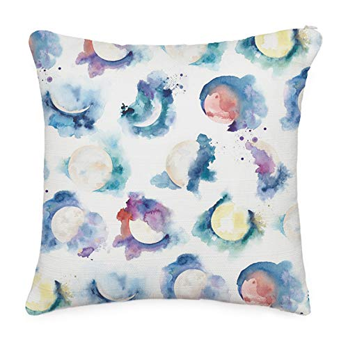 Moon phase pattern throw pillow cover