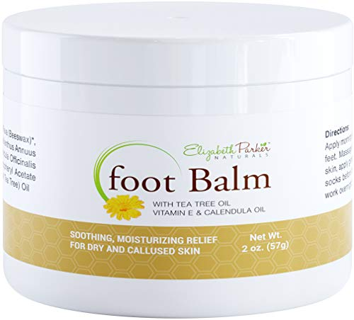 Foot Balm With Calendula and Tea Tree Oil - Moisturizing Antifungal Cream for Cracked Heel Treatment - Helps Fight Athletes Foot - Foot Cream for Dry Cracked Feet - Organic and Natural (2 oz)