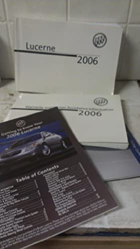 2006 buick lucerne owners manual amazon com books rh amazon com 2006 Buick Lucerne CXL 2006 Buick Lucerne Interior