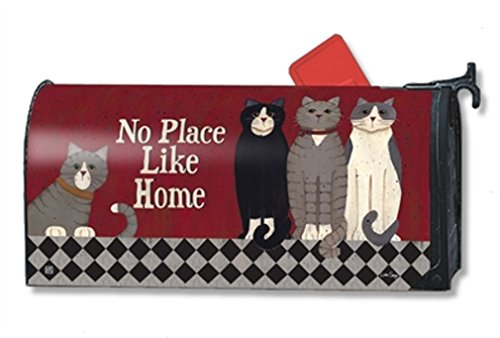 Mailwraps Cat - MailWraps Kitties at Home MailWrap Mailbox Cover 01397