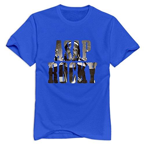 Vansty ASAP Rocky 100% Cotton T Shirt For Boyfriend RoyalBlue Take the measure of XXL