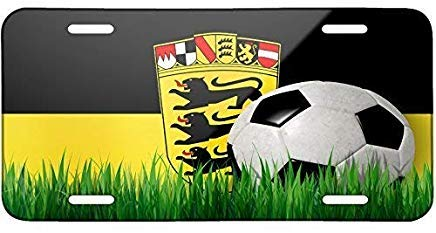 Seandsf Soccer Team Flag Baden-Wuerttemberg Region Germany Decoration License Plate Cover Frame Auto Tag for Front of Car