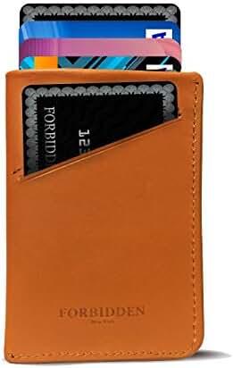 Forbidden Minimalist Slim front pocket leather Wallet