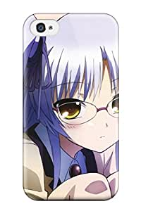 For Iphone 4/4s Premium Tpu Case Cover Angel Beats Protective Case
