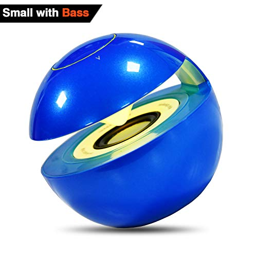 Bluetooth Speaker- Small Wireless Speaker with Superb HD Sound and Enhanced Bass, Adjustable Colorfully Led Light, Built-in Mic and TF Card Slot 40ft Wireless Range for iPhone iPad PC Cellphone(Blue) by KIROBO