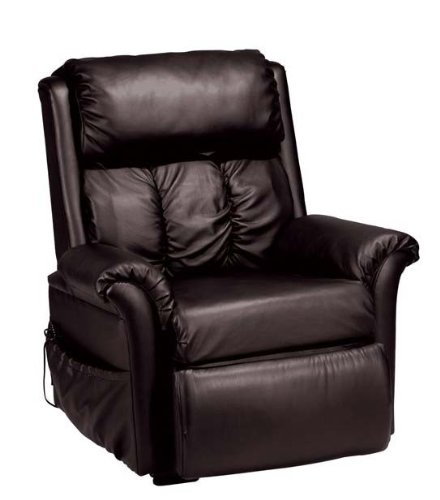 Leather Espresso Bycast (Lift Chair Recliner with Massage Espresso Bycast Leather)