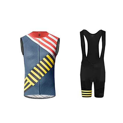 Uglyfrog Men's Cycling Vest Running Vest Sleeves Windproof - Bib Cycling Equipe Short
