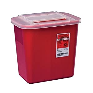 MDS705202 Sharps Container, 8 Quart(=2 Gallons)