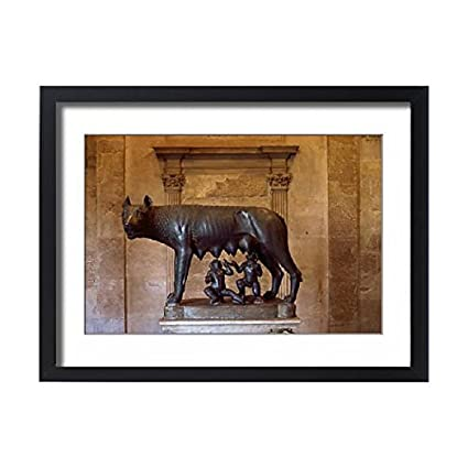 Amazon.com: Framed 24x18 Print of Romulus and Remus sculpture ...