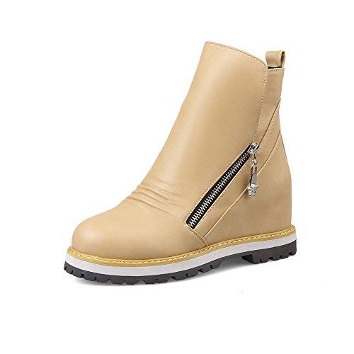 aalardom-womens-zipper-round-closed-toe-kitten-heels-pu-mid-top-boots-apricot-40