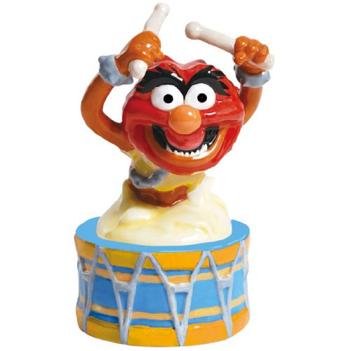 Westland Giftware Magnetic Ceramic Salt and Pepper Shaker Set, 4.5-Inch, Disney Muppets Animal on Drum, Set of 2 by Westland Giftware