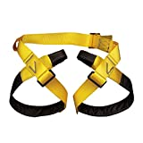 ROBAG Rock Climbing Harness Outdoor Half Body Caving Safety Belt Simple Fast Belt Mountaineering Equipment Yellow