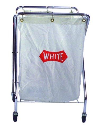 Impact 193 Collector Cart with 6-Bushel Nylon Pak Cloth Bag, 14'' Length x 26'' Width x 36'' Height, White