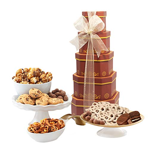 Gift Tower of Sweets Perfect for All Occasions including Birthday Sympathy Housewarming Retirement Get Well Thank You Gifts