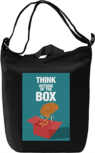 Think outside of the box Borsa Giornaliera Canvas Canvas Day Bag| 100% Premium Cotton Canvas| DTG Printing|