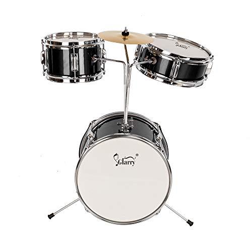 Lovinland 13''x8'' 3-Pieces Junior Kids Child Drum Set Kit Pedal Drum Stick Wrench Drum Stool Black by Lovinland (Image #1)