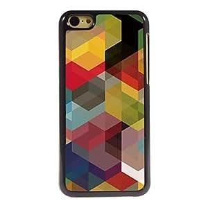 caso duro de aluminio del diseño geométrico de 5c iphone