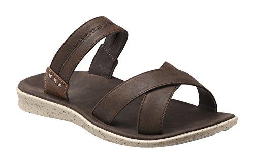 Superfeet Laurel Women's Casual Sandal, Chocolate Brown, Full Grain Leather, Women's 7.5 ()