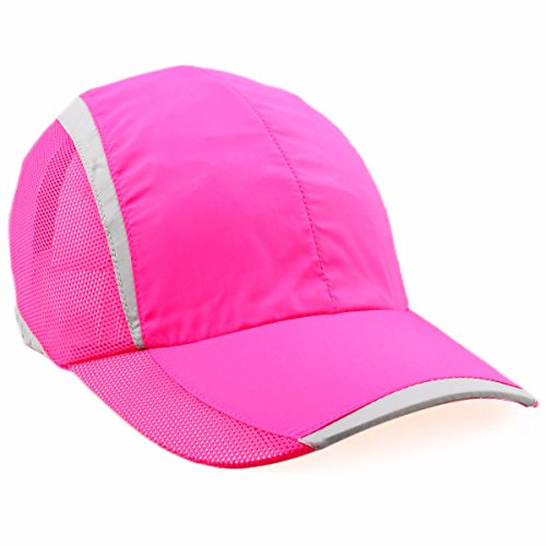 Fitted College Hat Cap - squaregarden Baseball Cap Hat,Running Golf Caps Sports Sun Hats Quick Dry Lightweight Ultra Thin,Hot Pink,One Size
