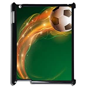 Purple Soccer DIY Cover Case for iPad 2,3,4, DIY Purple Soccer Cell Phone Case