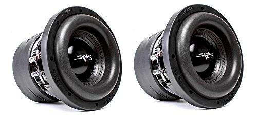 (2) Skar Audio ZVX-8 D2 8″ 900W RMS Dual 2 SPL Car Subwoofer