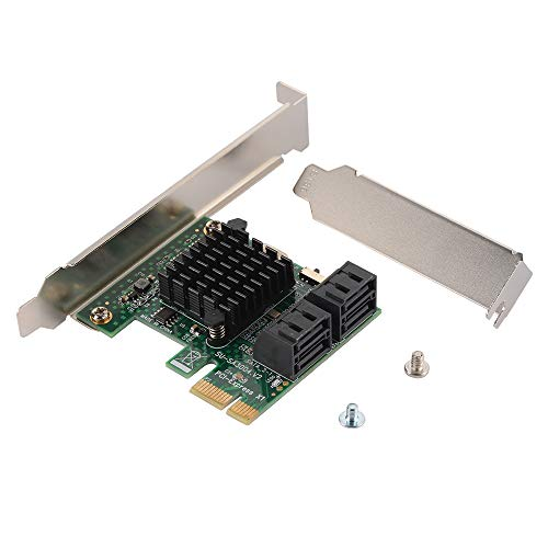 Slot Expansion Adapter Ide (XCSOURCE PCI-E PCI Express 1x to 4-Port SATA 3.0 Hard Drive Extension Card Adapter AC1539)