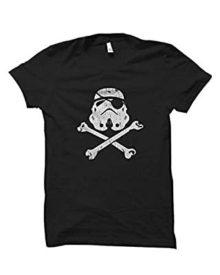 Mens Pirate Eye Patch Storm Trooper Star Wars Vintage Distressed T-Shirt