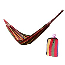 Lightweight Cavans Hammock 2 Person Relaxation Camping Hiking Camo Red 1Pc