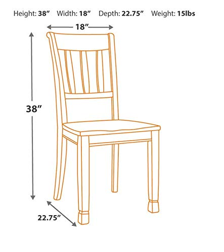 home & kitchen, furniture, kitchen & dining room furniture,  chairs  picture, Signature Design by Ashley D583-02 Dining Chair, Beige in US2