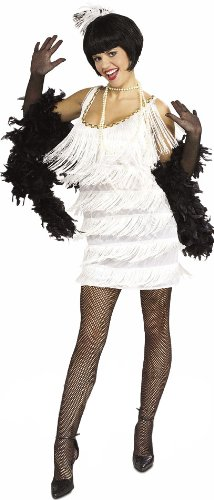 Female Mobsters Costumes (Broadway Babe Flapper Costume - Womens Medium)