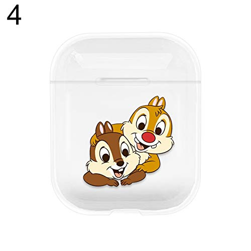 FeiyanfyQ Cute Cartoon Clear Hard Shockproof Protective Case Cover for Apple AirPods 1 2 Running Headphones Earbuds for…