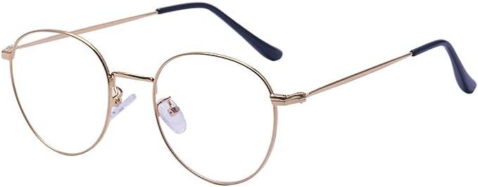 ALWAYSUV Runde Rahmen Vollrand Klare Lens Brille Light Gewicht Klassische Brillenfassung