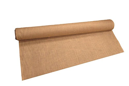 LA Linen 60-Inch Wide  Natural Burlap , 10 Yard Roll -