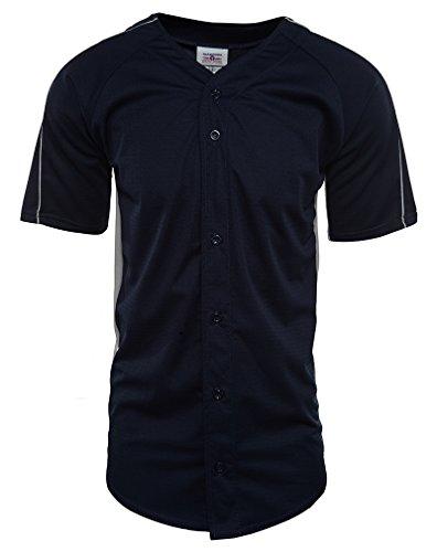 Teamwork 2 Color Full Button Diamond Core Wicking Baseball Jersey Mens Style: 1777B-733 Size: L (Diamond Core Jersey)