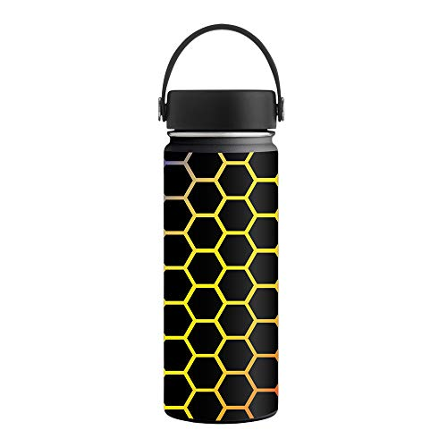 MightySkins Skin Compatible with Hydro Flask 18 oz. Wide Mouth - Primary Honeycomb | Protective, Durable, and Unique Vinyl Decal wrap Cover | Easy to Apply, Remove | Made in ()