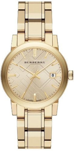 Burberry Light Champagne Dial Light Gold-tone Ladies Watch BU9134, Model: BU9134, Hand/Wrist Watch Store (Burberry Digital compare prices)