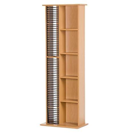 Colonna porta CD piantana per 63 CD e 14 DVD legno 40 x 24 x 116 cm ...