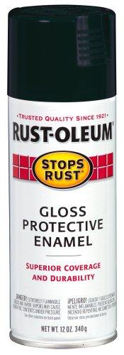 Rust-Oleum Stops Rust Spray Paint, Gloss Charleston Green, 12-Ounce