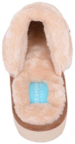 Scarpe Da Donna Assolute Slip On Slippers / Mules / Scarpe Indoor Con Memory Foam In Marrone