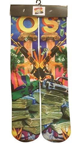 DJDesigns Custom 3D Printed Video Gamer Socks (GTA