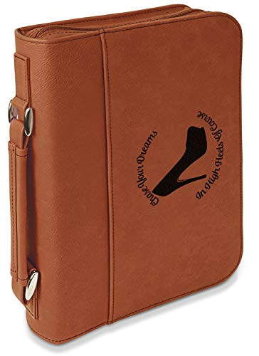 High Heels Leatherette Bible Cover with Handle & Zipper - Small - Single - 6.75 High Inch Heel