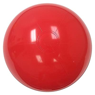 Beachballs - 16'' Solid Red Beach Ball: Sports & Outdoors