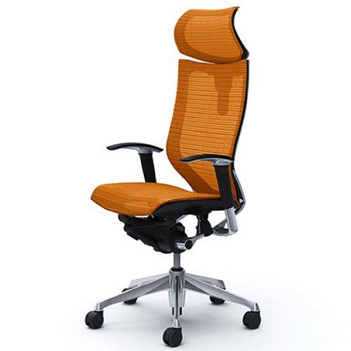オカムラ オフィスチェア バロン 可動ヘッドレスト 可動肘 座メッシュ オレンジ CP81AR-FDH8 B000NMMV52 オレンジ CP81AR FDH8 オレンジ CP81AR FDH8